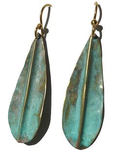 Earrings Patina Small Leaf by Sibilia from IMPERIO jp