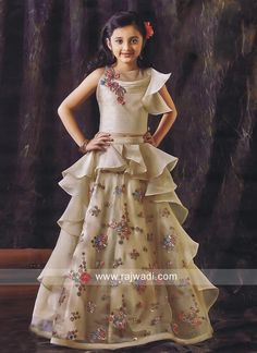 Designer Layered Choli Suit for Girls Kids Party Wear Dresses, Kids Dress Wear, Wedding Dresses For Kids, Kids Gown, Kids Wear, Long Frocks For Kids, Frocks For Girls, Gowns For Girls, Dresses Kids Girl