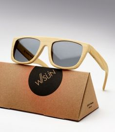 Parisian made bamboo sunglasses