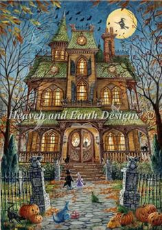 Trick or Treat by Heaven and Earth Designs - Cross Stitch Kits & Patterns