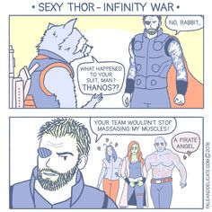 #comic #webcomic #paleanddelicate #infinitywar #thor