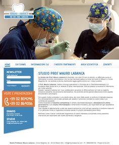 Ideazione e creazione del #sito www.maurolabanca.com per lo Studio del Prof. Mauro Labanca Studio del progetto, sviluppo creativo, gestione dei contenuti, realizzazione delle fotografie. Il sito si rivolge a due tipi di target: il cliente/paziente (attuale o potenziale) e il professionista dell'ambito odontoiatrico. By D-ire.com