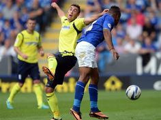 Lee Novak in action at Leicester City. August 2013. #BCFC