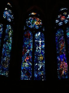 Mark Chagall, beautiful stained glass windows, 1971