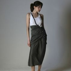 80's Yohji Yamamoto take on the sarong, the one from our range of Aimee Man's favorite vintage gems, the one she happened to wear to the 1985 Mtv Music Awards, has finally found a home!