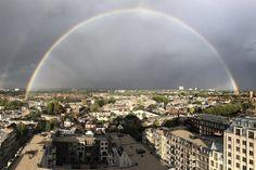 Foto: prachtige regenboog boven Utrecht