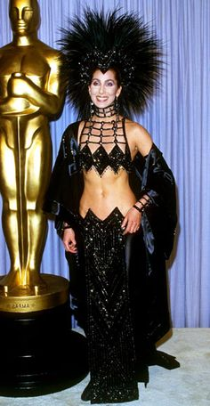 Cher, 1986  20 Most Outrageous Oscars Looks Ever
