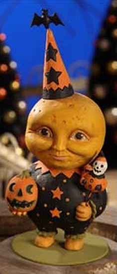 Bethany Lowe Halloween Moon Man Greg Guedel Figurine Folk Art Figure Decor | eBay