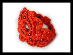 Soutache red bracelet Maya's design by Mayasbijou on Etsy €24.29 EUR on Etsy.com
