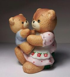 Lucy and Me Enesco - Mother's Day - Mother and Baby Teddy Bear Figurine - 1985