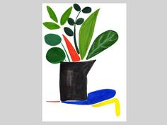 Floral Still Life Abstract Plants Modern Wall Decor
