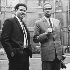 Malcolm X at Oxford with Eric Abrahams, the student union president, before addressing university students on the subject of extremism and liberty. Malcolm X, Black Leaders, Human Rights Activists, By Any Means Necessary, People Icon, Black N White, Black Men, Black History Facts, African American History