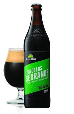"""""""Spice is right with hot pepper beers"""" via @bostonglobe - Green Flash's most recent take on a chile pepper beer (they brew several) is Dia de los Serranos, a double stout brewed with serrano chiles. Thicker than the Harpoon brew, this one can be likened to a mole sauce or a Mexican hot chocolate. Here, too, the stems and seeds were removed by hand before adding to the kettle, but the heat level is higher."""