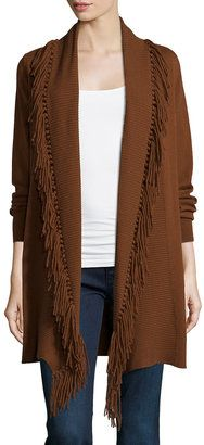 Neiman Marcus Cashmere Collection Cashmere Duster Cardigan W/ Fringe - Shop for women's Cardigan