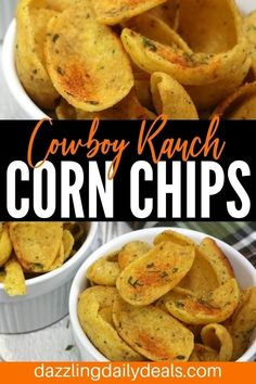 Get the crowd roaring with this Cowboy ranch corn chips recipe. You may not be able to keep this in stock but this recipe is so easy you won't mind making more. Try it with chili ; Easy Appetizer Recipes, Spicy Recipes, Yummy Appetizers, Easy Snacks, Vegan Recipes Easy, Yummy Snacks, Easy Meals, Drink Recipes, Picnic Foods