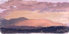 "Frederic Edwin Church, ""Sunset, Hudson Valley"", June 1870"