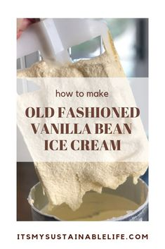 Whether you call it old fashioned ice cream, homemade ice cream, or frozen custard, I call it yummy! This classic vintage French vanilla bean ice cream, made Old Fashioned Homemade Ice Cream, Electric Ice Cream Maker, Vanilla Bean Ice Cream, Healthy Ice Cream, Homemade Vanilla, Ice Cream Recipes, Frozen Custard Recipes, Frozen Desserts, Frozen Treats