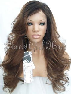 Wholesale! For African American Women Malaysian ombre  100 virgin human hair Glueless Full Lace Wigs