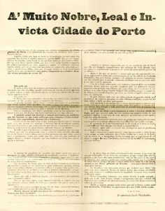 A MUITO NOBRE LEAL E INVICTA CIDADE DO PORTO - MACHADO (Francisco Jose)
