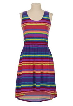 High-Low Hem Striped Tank Dress available at #Maurices