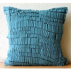 """Luxury Blue Accent Pillows, Modern Pillow Covers, 12""""x12""""... https://www.amazon.com/dp/B00J2CB6KK/ref=cm_sw_r_pi_dp_x_pAcpybC8Y6DNR"""