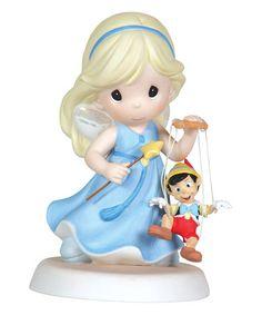 Loving this Girl Fairy & Pinocchio Figurine on #zulily! #zulilyfinds