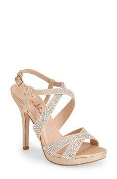 Lauren Lorraine 'Yvine' Crystal Embellished Slingback Platform Sandals (Women) | Nordstrom
