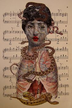 my music- mailart  collage   art