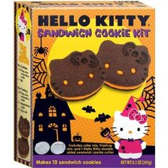 Brand Castle Hello Kitty Halloween Sandwich Cookie Kit.      Ahhh, I must find this!!