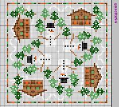 Winter Biscornu chart