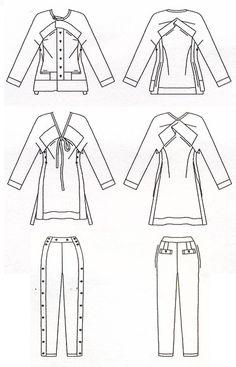 Vogue American Designer 2127 Jackets and Slacks Designed by Issey Miyake Bust…