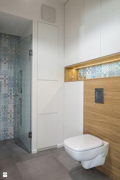 Saska Kępa na Gocławiu - Mała łazienka w bloku w domu jednorodzinnym, styl skandynawski - zdjęcie od EG projekt