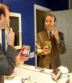 Shaving with Jif Peanut Butter Jif Peanut Butter, Flower Beds, Survival Skills, Brand Names, Shaving, Just In Case, Lol, Green, Raised Beds