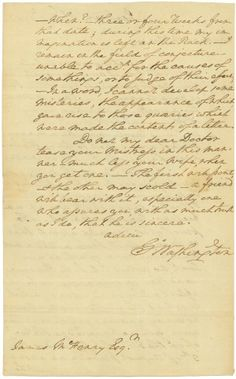 On this day in 1782, George Washington humorously lays the guilt on thick while waiting for answers about funding and maintaining troop levels prior to the final peace treaty ending the Revolutionary War. His highly personal letter to Dr. James McHenry shows a glimpse of the man behind the otherwise stolid image.