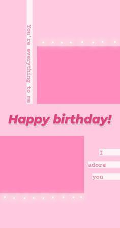 Happy Birthday Template, Happy Birthday Frame, Happy Birthday Posters, Birthday Posts, Birthday Frames, Birthday Captions Instagram, Birthday Post Instagram, Instagram Story Ideas, Instagram Quotes