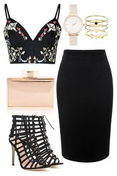 """Weekend Fun"" by biancamarie17 on Polyvore featuring Glamorous, Alexander McQueen, Gianvito Rossi, Olivia Burton, Accessorize, women's clothing, women's fashion, women, female and woman"