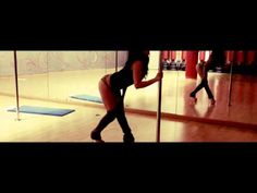 Sensual and smooth pole dance floorwork and transitions by Aryanna