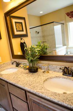 Bloomfield Homes Bathrooms - Framed Mirrors in bathrooms!