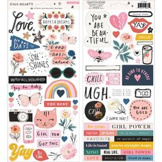 You'll have no bad days when you create with the Cardstock Stickers with Iridescent Accents from the All Heart Collection by Crate Paper. Crate Paper, Flowers In Jars, No Bad Days, All Heart, Beauty Magazine, Scrapbook Stickers, Planner Stickers, Bee Happy, Power Girl