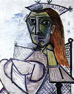 "Pablo Picasso - ""Woman sitting in an armchair"". 1941"