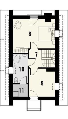 TAROT 2 - projekt małego domku z ciepłym wnętrzem z kominkiem. Studio Krajobrazy. Small House Design, Tarot, My House, Floor Plans, Exterior, Mini, How To Plan, Architecture, Planes