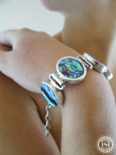 What a beaut! Abalone and silver - get it from soon to launch e-boutique www.ososilver.co.uk