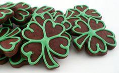 Chocolate shamrock cookies