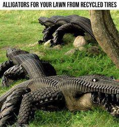 DIY Pet Alligators For Your Lawn