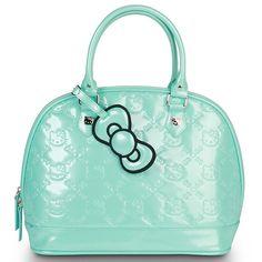 f7b77083c1 Wroblewski Hello Kitty NEW Small Mint Patent Embossed Bag