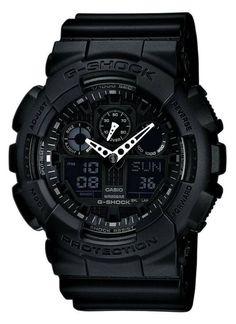 678a61301e9 Casio GA100-1A1 Men s G-Shock Black resin Strap Watch Cartier