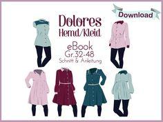 """Nähanleitungen Mode - E-Book Hemd/Kleid """"Dolores"""" - ein Designerstück von…"""