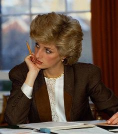 September 30, 1985: Princess Diana at a Planning Meeting at Kensington Palace.