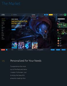 League Of Legends Redesign by Martin Vlas, via Behance