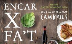 La alcachofa es, una vez más, la protagonista de la 4ª edición de la propuesta gastronómica 'Encarxofa't a Cambrils'. Esta 4ª edición reúne 36 restaurantes de la ciudad que ofrecerán del 4 al 20 de marzo menús especiales con la alcachofa como protagonista.